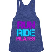 RUN RIDE Pilates Tank top for athletic women exercise
