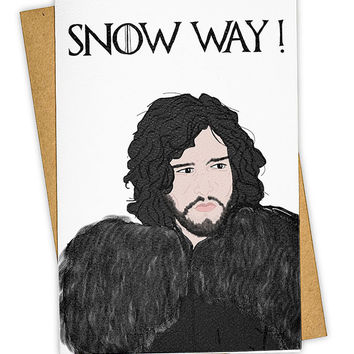 Snow Way Greeting Card