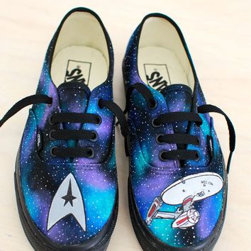 Star Trek Vans featuring The USS Enterprise flying though Space
