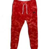"Nike X Jeffersons Custom Tonal Tie Dye Washed Jogger Sweatpant ""FIRE RED"""