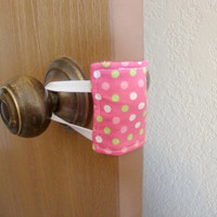 Nursery Door Muffler / Silencer - Pink with Polka Dots