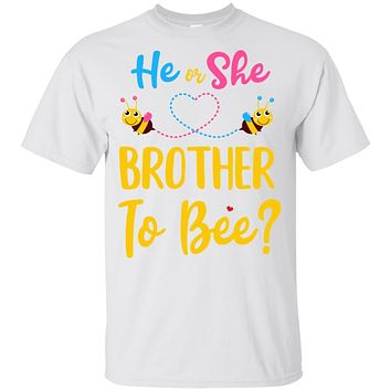 Gender Reveal Pink Blue What Will It Bee He Or She Brother Youth