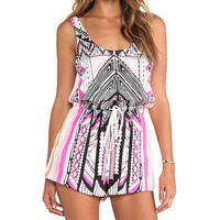 MINKPINK Mayan Temple Playsuit in Pink