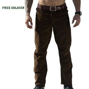 outdoor sports camping hiking tactical thick warm military pants men's  cotton trouser