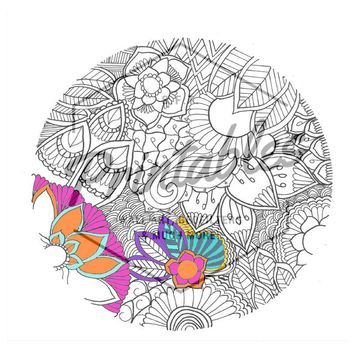 Adult Coloring Page, Printable Coloring Book, Mandala color in Art, Mandala Digital, Mandala Digital Clip Art, Mandala art, Instant Download