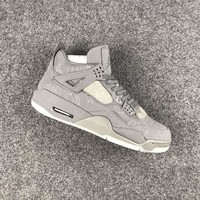 KAWS x Air Jordan 4 Sample Gray Sneaker Shoe