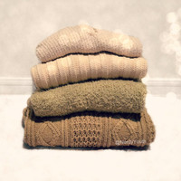 Mystery Sweater Solid Oversized Hipster Sweater