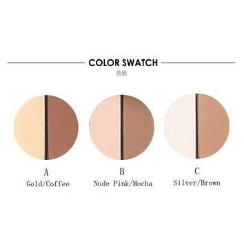 ac VLXC Bling Focallure Pro Make up Face Two-Color Bronzer Highlighter Trimming Powder Make Up Cosmetic Face Concealer Matte Powder