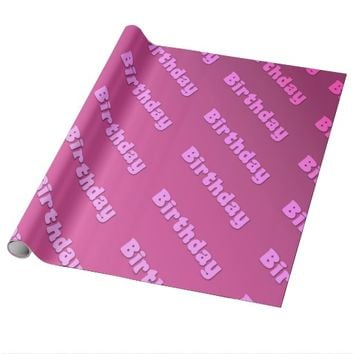 Birthday (pink) wrapping paper