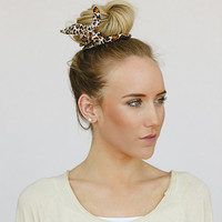 Leopard Bun Wire Wraps Fabric Bun Wraps Wired Hair Accessory for Buns or Pony Tails Braid Ins for Hair Fabrics Great Gifts (HA-100-A)