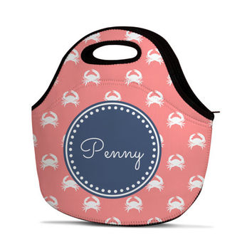 Personalized Lunch Bag - Monogram Lunch Bag - Custom Lunch Bag - Name Lunch Bag - Design Your Own Lunch Bag - Neoprene Lunch Bag