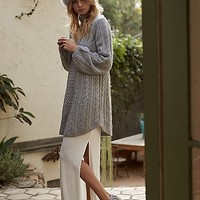 Free People Womens Mini Cable Sweater Dress