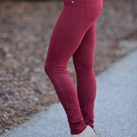 Perfect Fit Jeggings Garnet