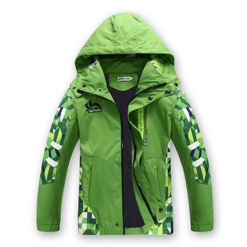 New Spring Autumn Children Boy's Jackets Coats Kids Active clothing Double-deck Waterproof Windproof Boys outwears High Quality