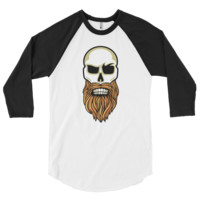 Bearded Warriors 3/4 sleeve raglan shirt