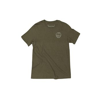 Mountain Waves // Triblend Olive Green