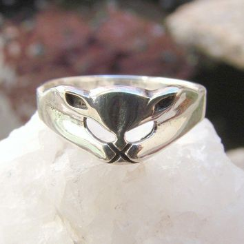 Cat Ring - Sterling Silver Ring -240
