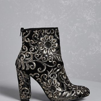 Baroque Sequin Ankle Boots