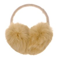 ZLYC Women Genuine Rabbit Fur Velvet Knit Adjustable Band Earmuffs Earwarmer, Camel