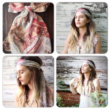 Head wrap, boho festival scarf, True Rebel Clothing