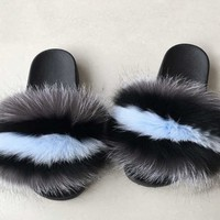Stay here fox fur slides