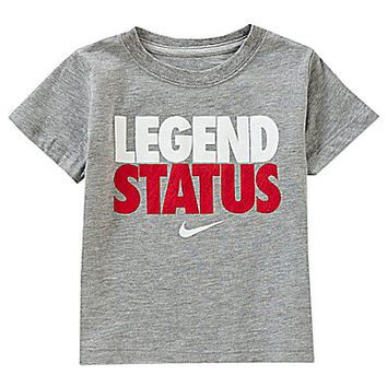 Nike 12-24 Months Legend Status Short-Sleeve Tee - Tribal Grey