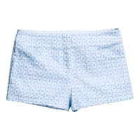 H&M - Eyelet Lace Shorts - Light blue - Ladies