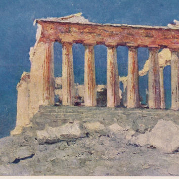 Ancient Architecture. Collecton / Set of 7 Vintage Prints, Postcards -- 1970s-1980s
