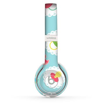 The Colorful Rubber Ducky and Blue Skin Set for the Beats by Dre Solo 2 Wireless Headphones