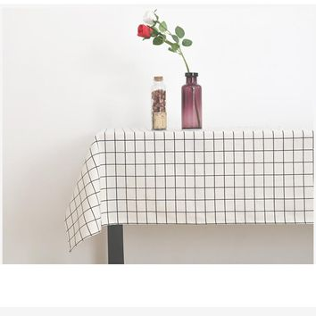 Pastoral Tablecloths Cotton Linen Table Cloth High Quality Country Style Hotel & Home Decorative Tablecloth Elegant Table Cover