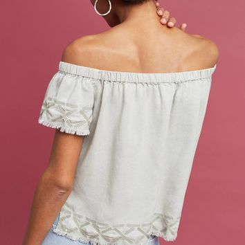 Caprera Embroidered Off-The-Shoulder Top