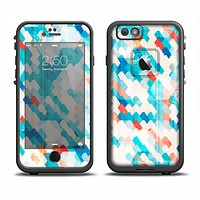 The Modern Abstract Blue Tiled Apple iPhone 6 LifeProof Fre Case Skin Set