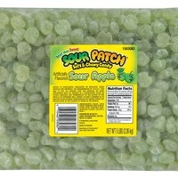 Sour Patch Sour Apple Candy, 5-Pound Bags (Pack of 2)