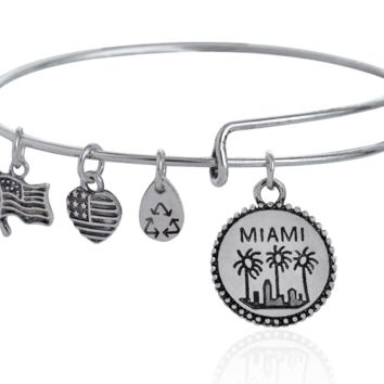 Alex and Ani MIAMI pendant charm bracelet,a perfect gift !