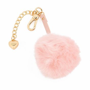 Juicy Couture Faux-Fur Pom-Pom Key Chain - Limited Edition