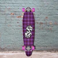 "Punked Dice Kicktail 40"" Longboard Complete"