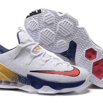 DCCKIJ2 Nike Men's Low Lebron 13 Basketball Shoes White Golden