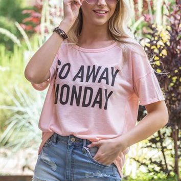 Go Away Monday Basic Tee
