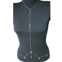 Sequined Body Chain Necklace