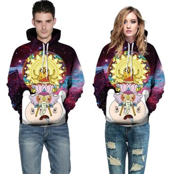 S--4XL Fashion Women Men Unisex 3D Hoodies Sweatshirt Cartoon Adventure Time Galaxy Hoodies  Hip Hop Coat Tops SweatshirtKawaii Pokemon go  AT_89_9