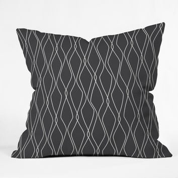 Heather Dutton Fuge Slate Outdoor Throw Pillow