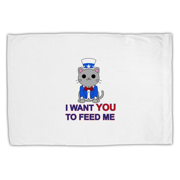 Patriotic Cat I Want You Standard Size Polyester Pillow Case by TooLoud