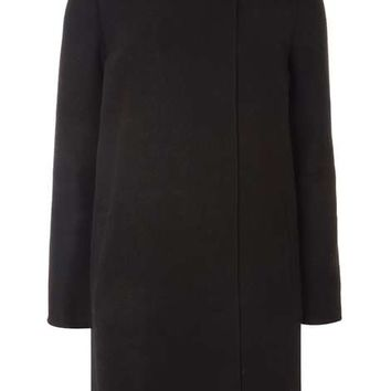 Black and Charcoal Wrap Coat - View All New In - New In
