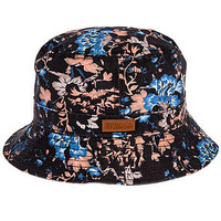 The Vacation Floral Bucket Hat in Black