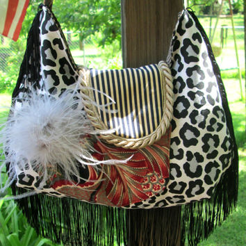 Fringe  Bohemian, Boho Gypsy Slouch Bag, Crossover bag shoulder Bag
