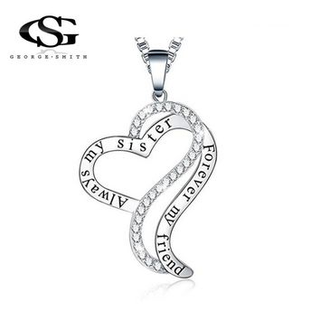 GS 2018 New Arrival Love Heart Pendant Necklaces for Women Mother Family MUM Letters Mother's Day Christmas Gift Jewelry Box R5