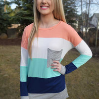 Good Things On the Horizon Tunic - Peach