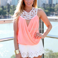 KOUSA TOP , DRESSES, TOPS, BOTTOMS, JACKETS & JUMPERS, ACCESSORIES, 50% OFF SALE, PRE ORDER, NEW ARRIVALS, PLAYSUIT, COLOUR, GIFT VOUCHER,,Pink,White,LACE,CUT OUT,BACKLESS,SLEEVELESS Australia, Queensland, Brisbane