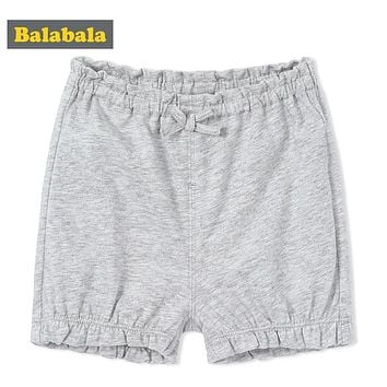 Balabala Baby Girls Baby Boys Shorts in 100% Cotton Infant Newborn Baby Summer Short Pants Bottoms Bloomers Panties with Bow Tie