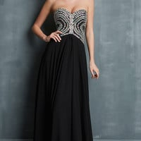 Long Strapless Sweetheart Prom Dress